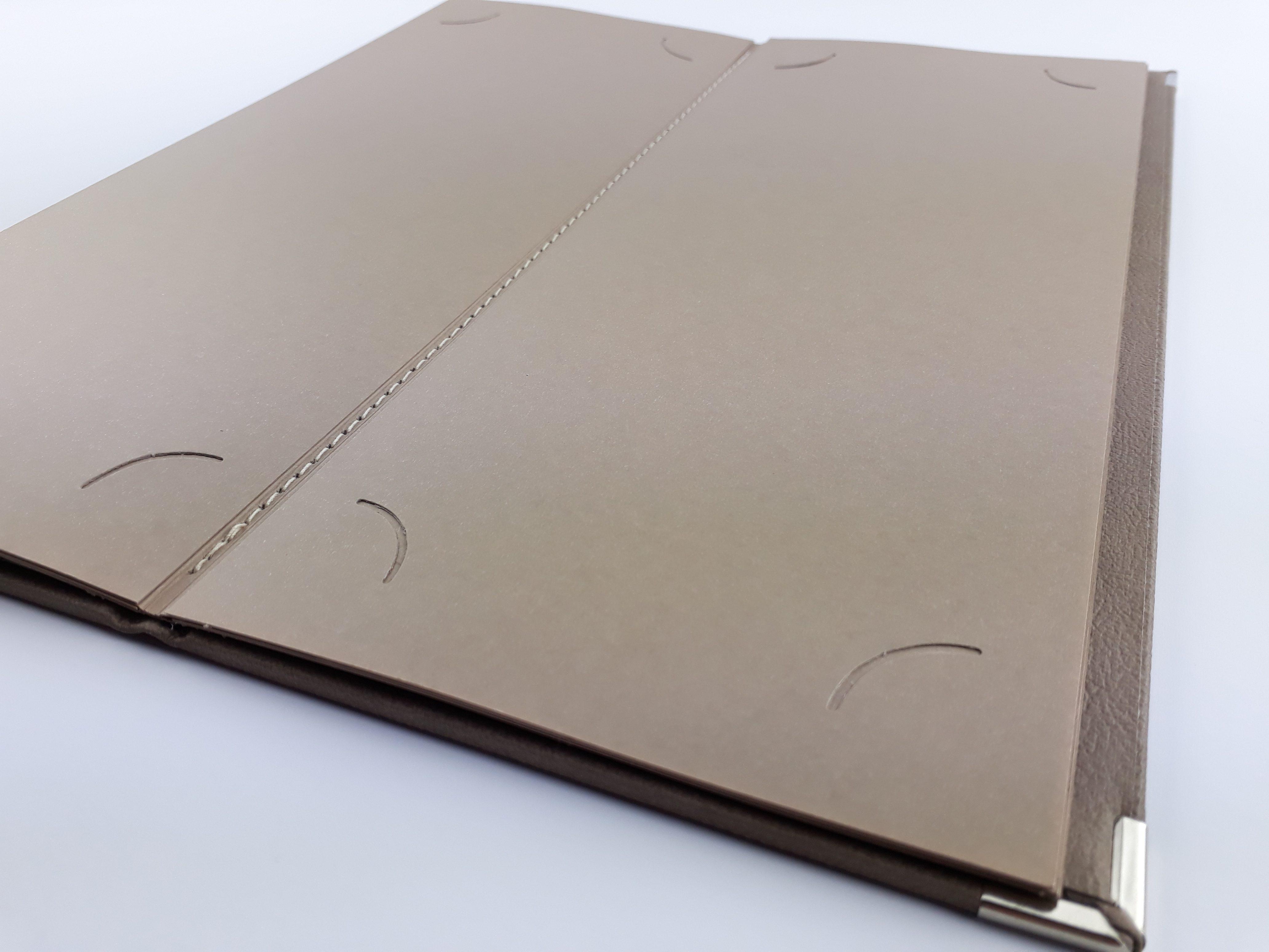 carte restaurant carton simili cuir